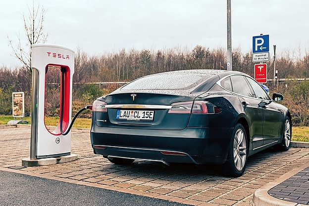 A charging station for electric cars